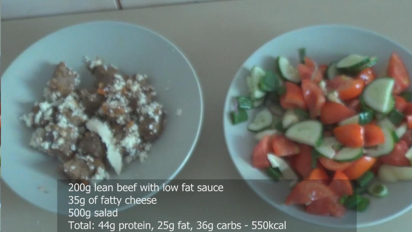Beef and Salad macros