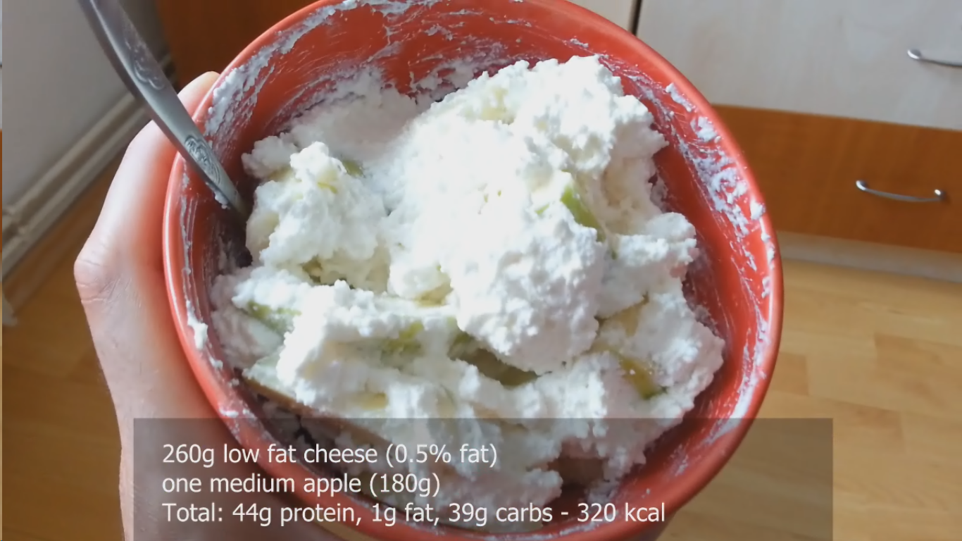 Low Fat Cheese and Apple