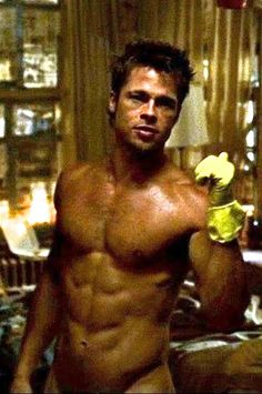 brad pitt in fight club workout