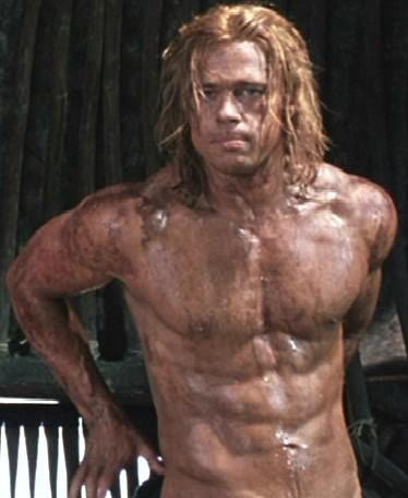 brad pitt in troy body